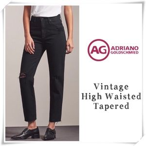 AG Phoebe Vintage High Waist Tapered Ankle Jeans